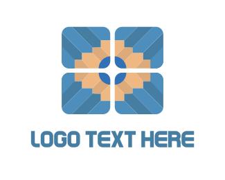 Blogger - Pencil Tile logo design
