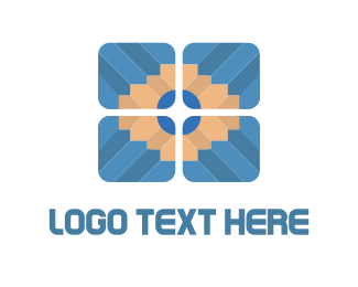 Color Pencil - Pencil Tile logo design
