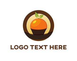 Sugar - Orange Cupcake logo design
