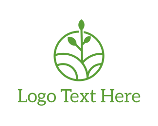 Yard Care - Green Organic Circle logo design