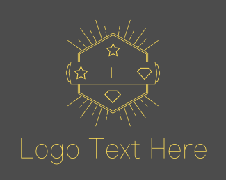 Sports - Hipster Hexagon Emblem logo design