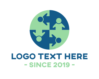 Friends Logo - Human Circle logo design
