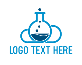 Lab - Cloud Laboratory logo design
