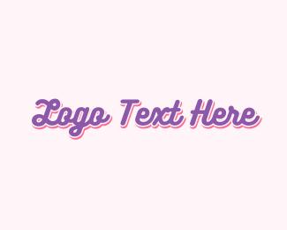 Handwriting - Cute Purple Handwriting  logo design