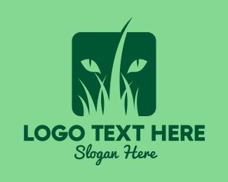 Grass - Wild Cat logo design