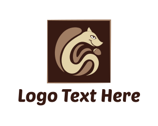 Acorn - Squirrel & Nut logo design