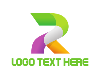 3d - Bold Letter R logo design