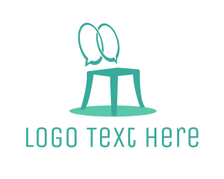 Chair - Furniture Chat logo design