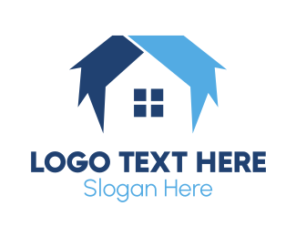 Window - Blue House logo design