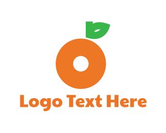Orange Juice - Orange Letter O logo design