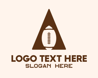 Nfl - Abstract Football Triangle logo design