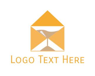 Hourglass - Mail Hour logo design