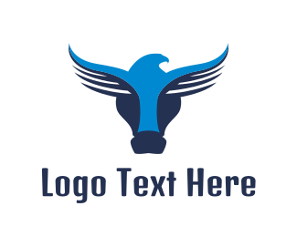 Buffalo - Abstract Buffalo Eagle  logo design