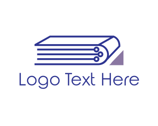 Notebook - Tech Blue Book logo design