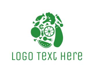 Supermarket - Green Food logo design