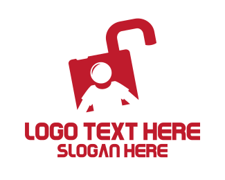 Storage - Lock Man logo design