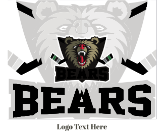 Fierce - Hockey Bear logo design