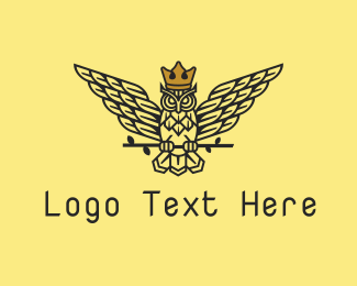 Royal Brown Owl Logo Maker