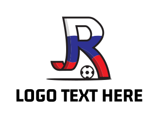 World Cup - Letter R Soccer logo design