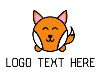 Inflatable - Cute Corgi logo design