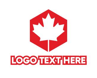 Maple Leaf - Canadian Hexagon logo design