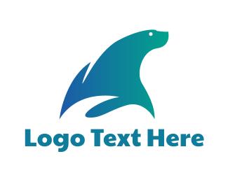 Wild Life - Gradient Blue Seal logo design