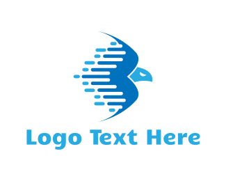 Post Office - Fast Blue Eagle logo design
