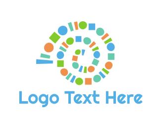 Portal - Geometric Snail logo design