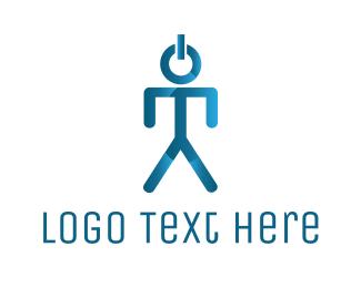 Social Network - Startup Man logo design