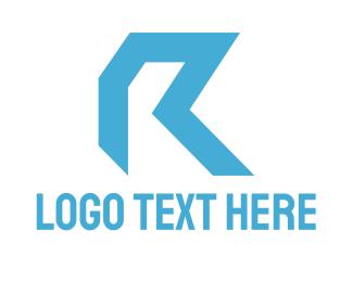 Letter R - Blue Letter R logo design