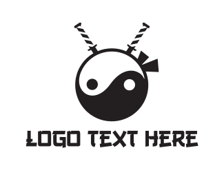 Team Icon - Yin Yang Ninja logo design