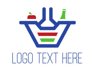 Supermarket - Food Basket logo design