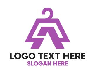 Dry Cleaner - Coat Hanger logo design