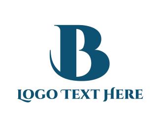 Traditional - Elegant Blue B logo design