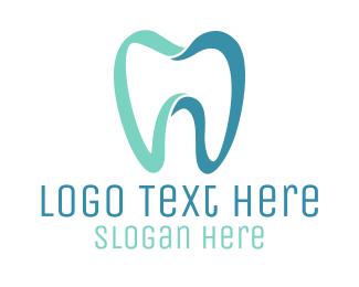 Molar - Modern Blue Tooth logo design
