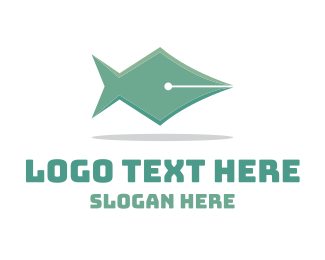 Press - Fish Pen logo design