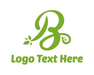 Cursive - Cursive Green B logo design