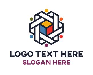 Lgbtiq - Colorful Cube  logo design
