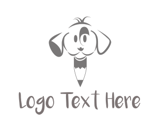 Drawing - Puppy Pencil logo design