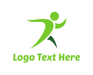 Walking - Green Fitness logo design