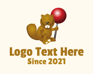 Lollipop - Cute Beaver logo design