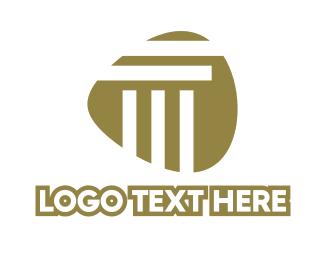 Pillar - Abstract Stripe Pillar logo design