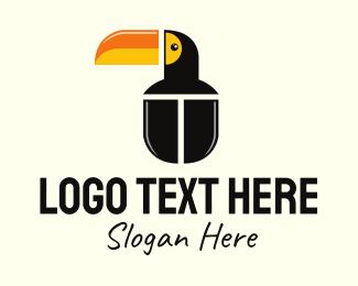 Wild Animal - Mouse Toucan logo design