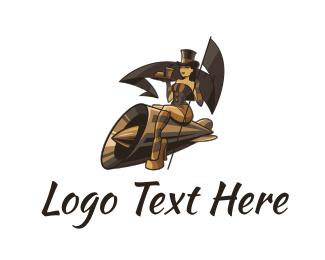 Steampunk - Steampunk Lady logo design