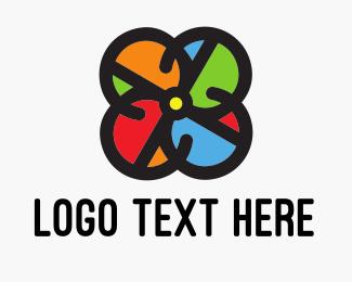 Drone - Colorful Circle Drone logo design