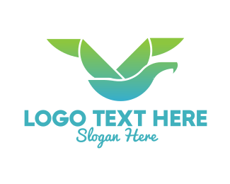 Logistics - Geometric Seagull logo design