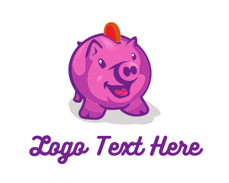 Piggy Bank - Piggy Coin Bank logo design