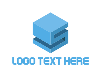 Supply Chain - Cube Letter S logo design