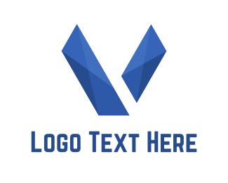 Mark - Abstract Letter V logo design