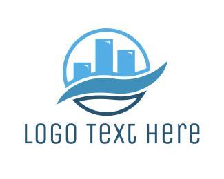 Finance - Blue Wave Chart logo design